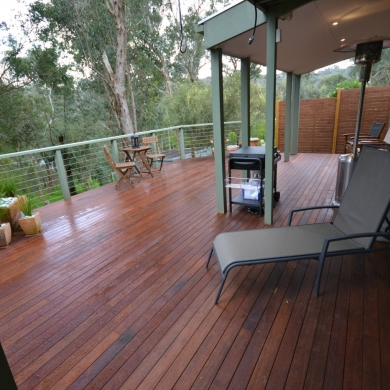 Spacious elevated decking