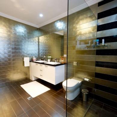 Bathroom wall and floor tiling