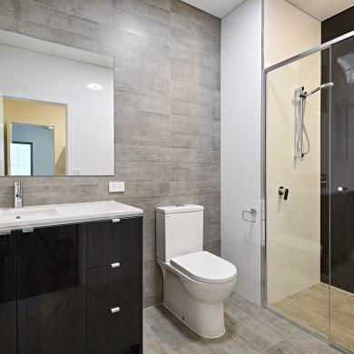 Glossy bathroom vanity