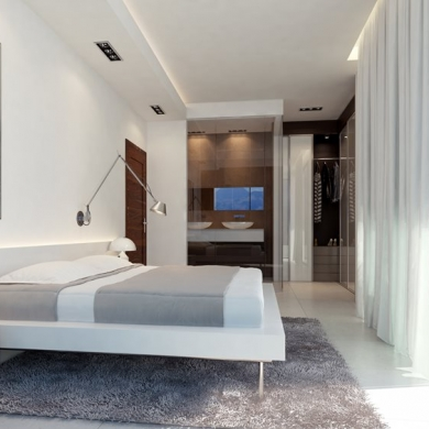 Contemporary bedroom design idea