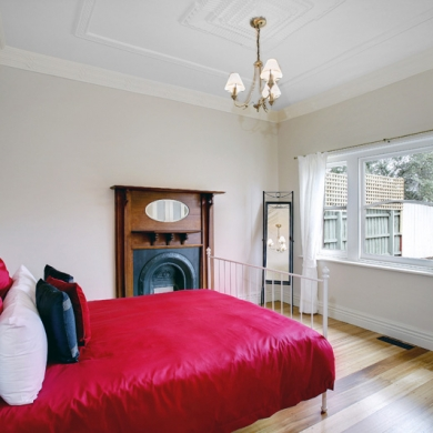Light and airy room with timber floors