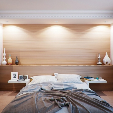 Wood planks as wall design