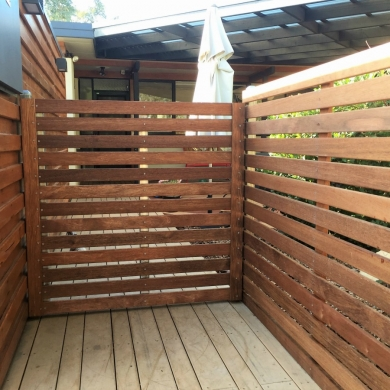 Timber fence and gate