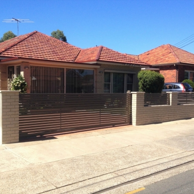 Stylish fence and roller gate