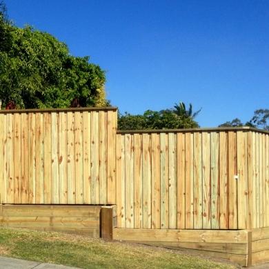 Plain timber fence