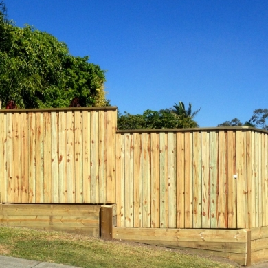 Plain timber fence