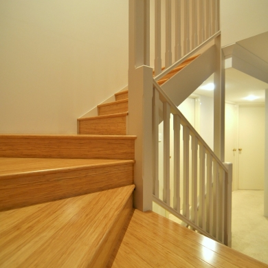 Bamboo flooring for stairs