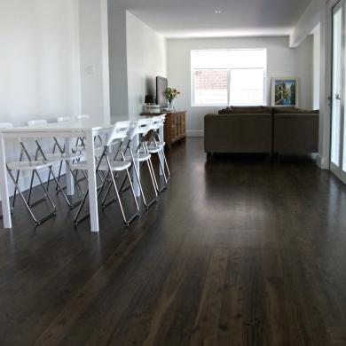 Dark stylish floor