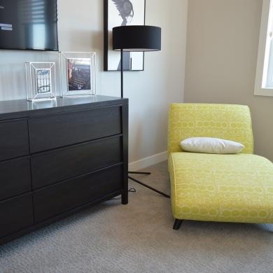 Bright chaise lounge chair