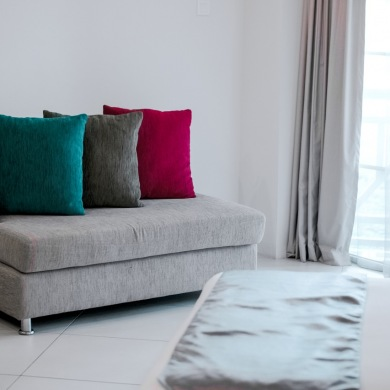 Throw pillows for much needed colours