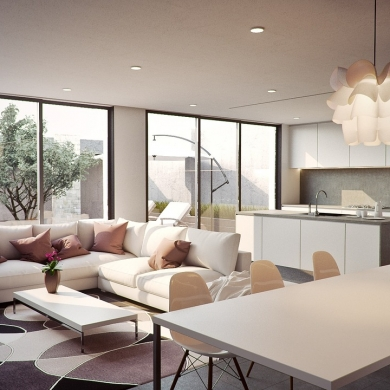 Stylish dining area light