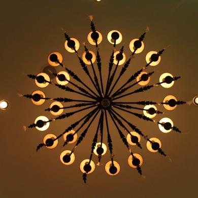 Beautiful chandelier design from below