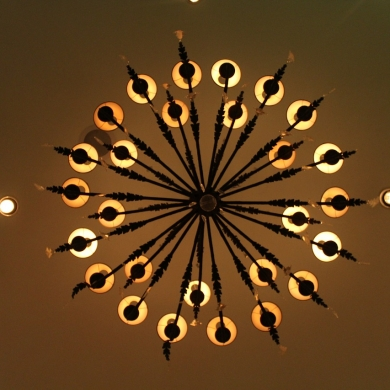 Beautiful chandelier design from below