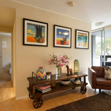 Decorating plain walls with paintings and other decorative accessories
