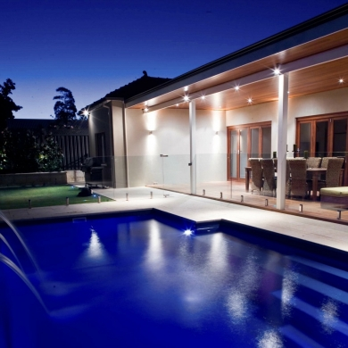 Great outdoor lighting for pool area