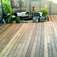 Timber deck with a mini garden