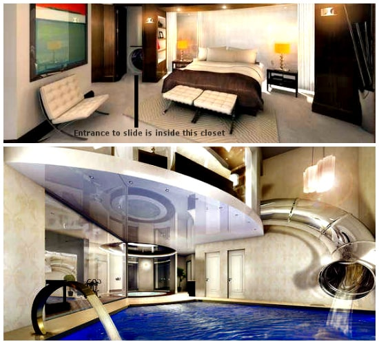 Cool Bedrooms With Water Slides