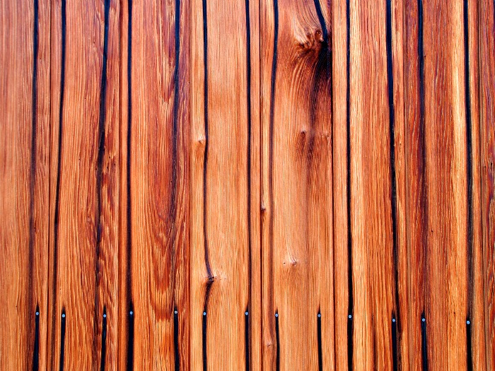 Restained deck