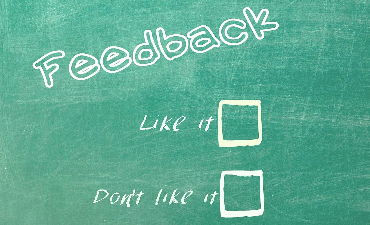 Feedback - like it, don't like it check boxes