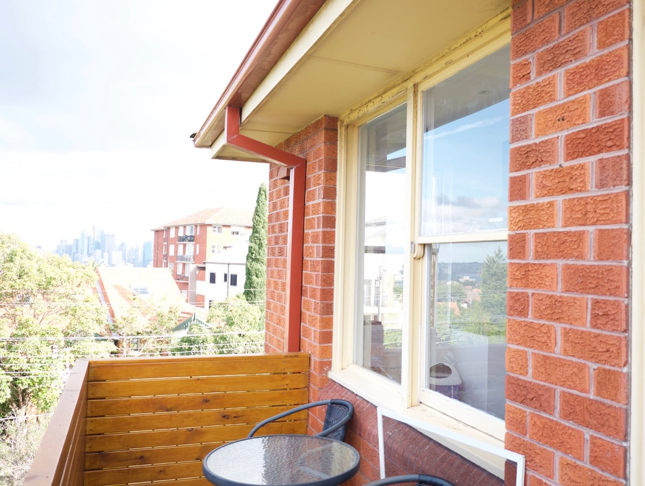 Ben's top floor apartment in Cremorne gets city views