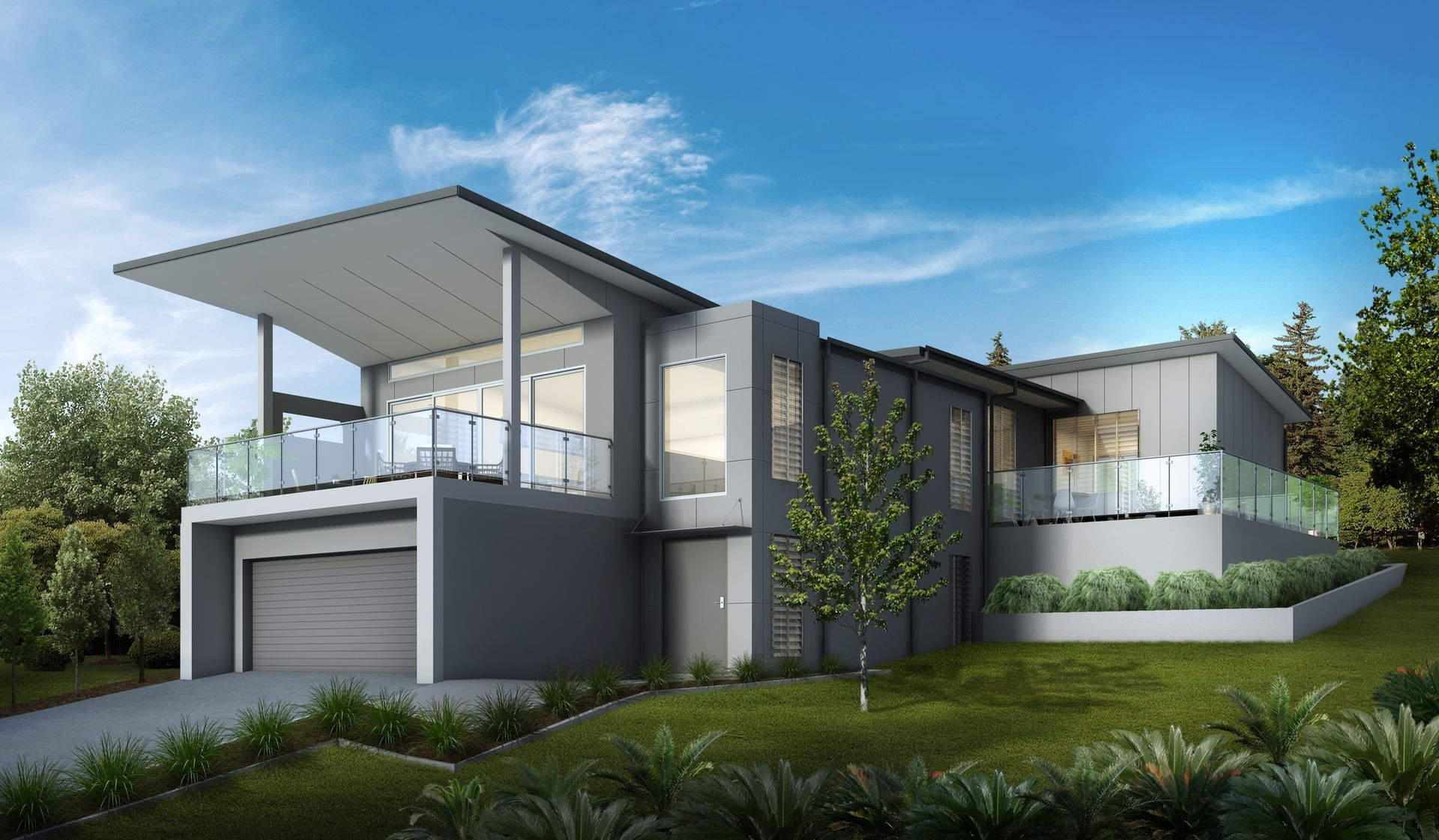 How much is the cost of hiring a professional architect for Home designs for sloping blocks