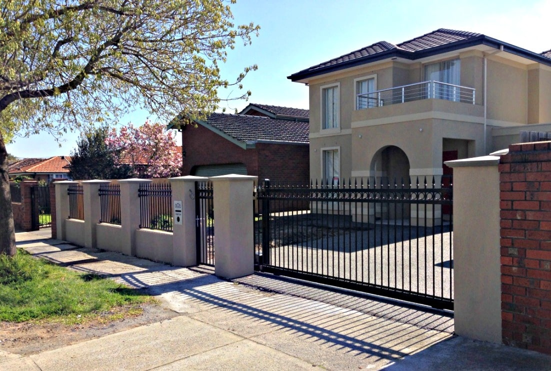 wrought iron fence installation