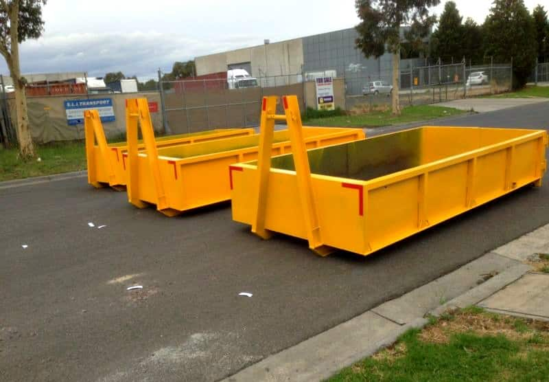Yellow skip bins