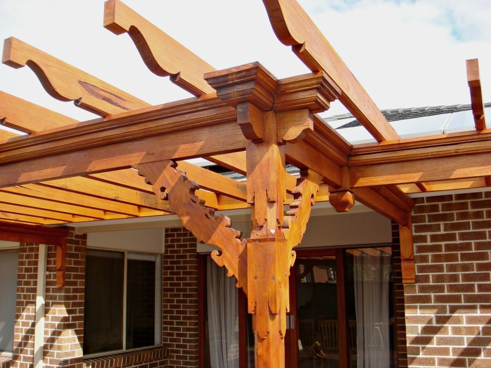 Wooden pergola - Pergola Building Cost - Wooden Pergola -