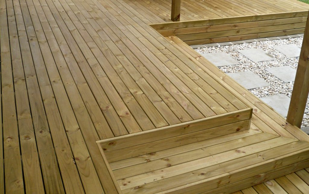 Cost of building a timber deck serviceseeking price guides for External timber decking