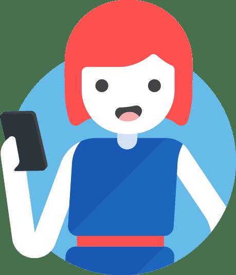 ServiceSeeking new app - julie on phone