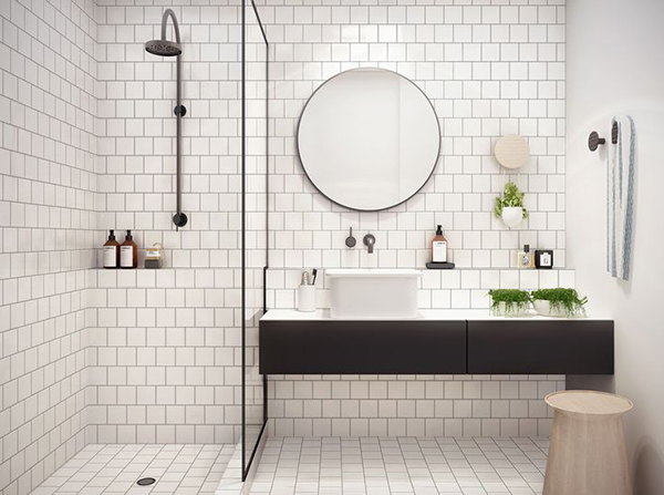 Inspirational tiled bathroom