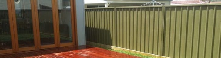 colorbond fencing cost install per square metre