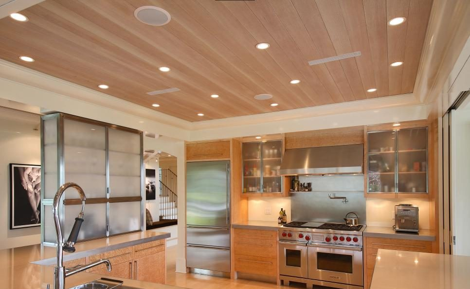 Renovated home kitchen ceiling