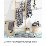 Geometic bathroom bundle
