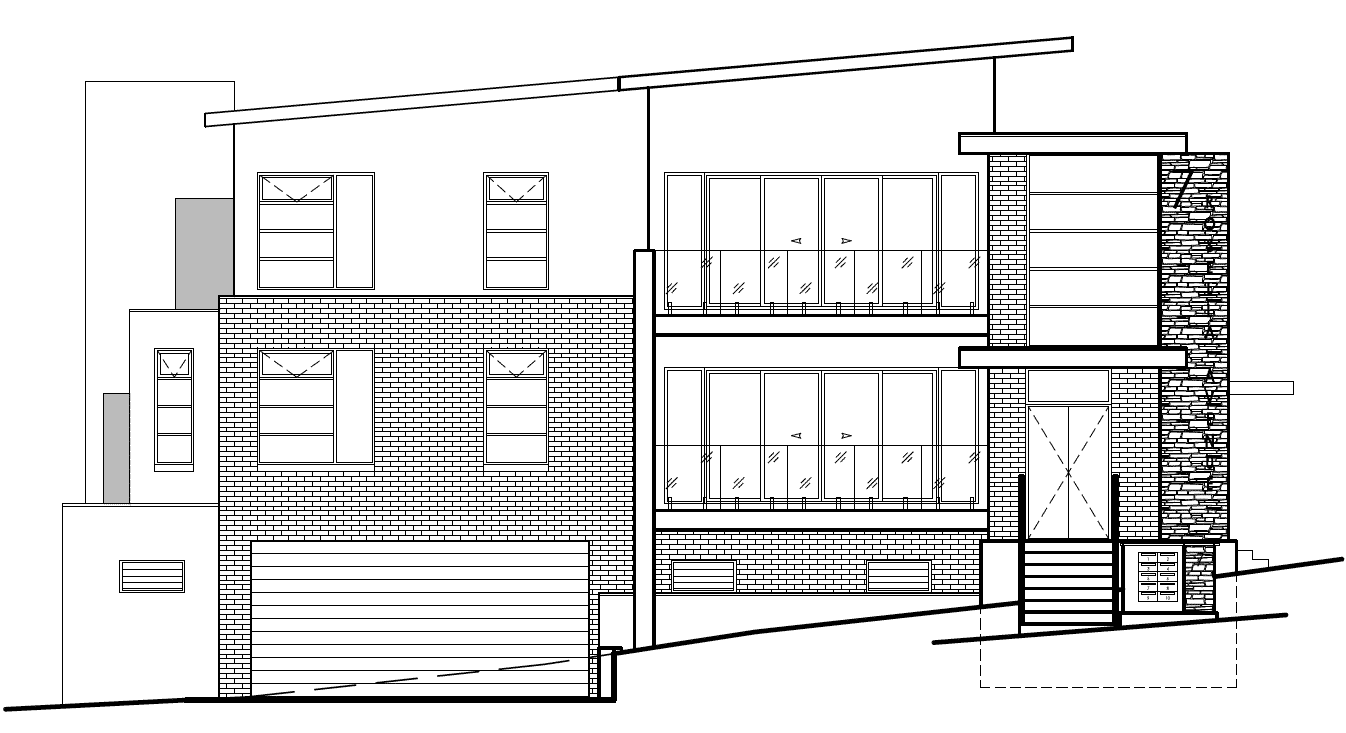 Professional CAD house drawing