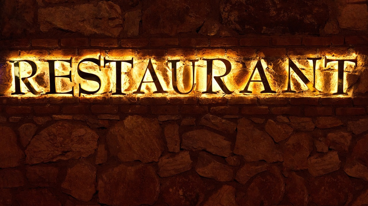 Commercial business signage - restaurant