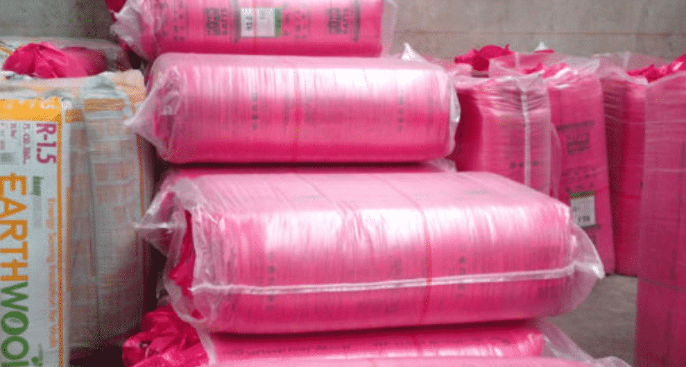 underfloor insulation material pink earth-wool batts