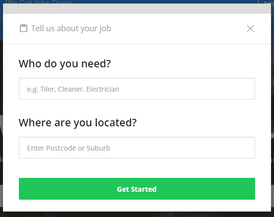 Job details modal