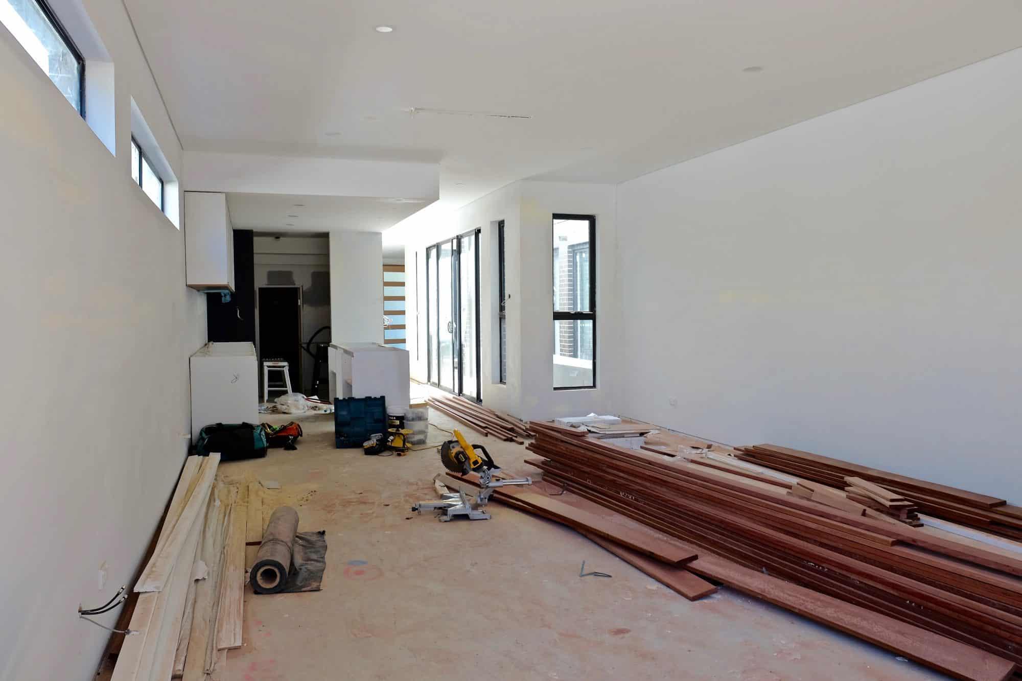Room under renovations