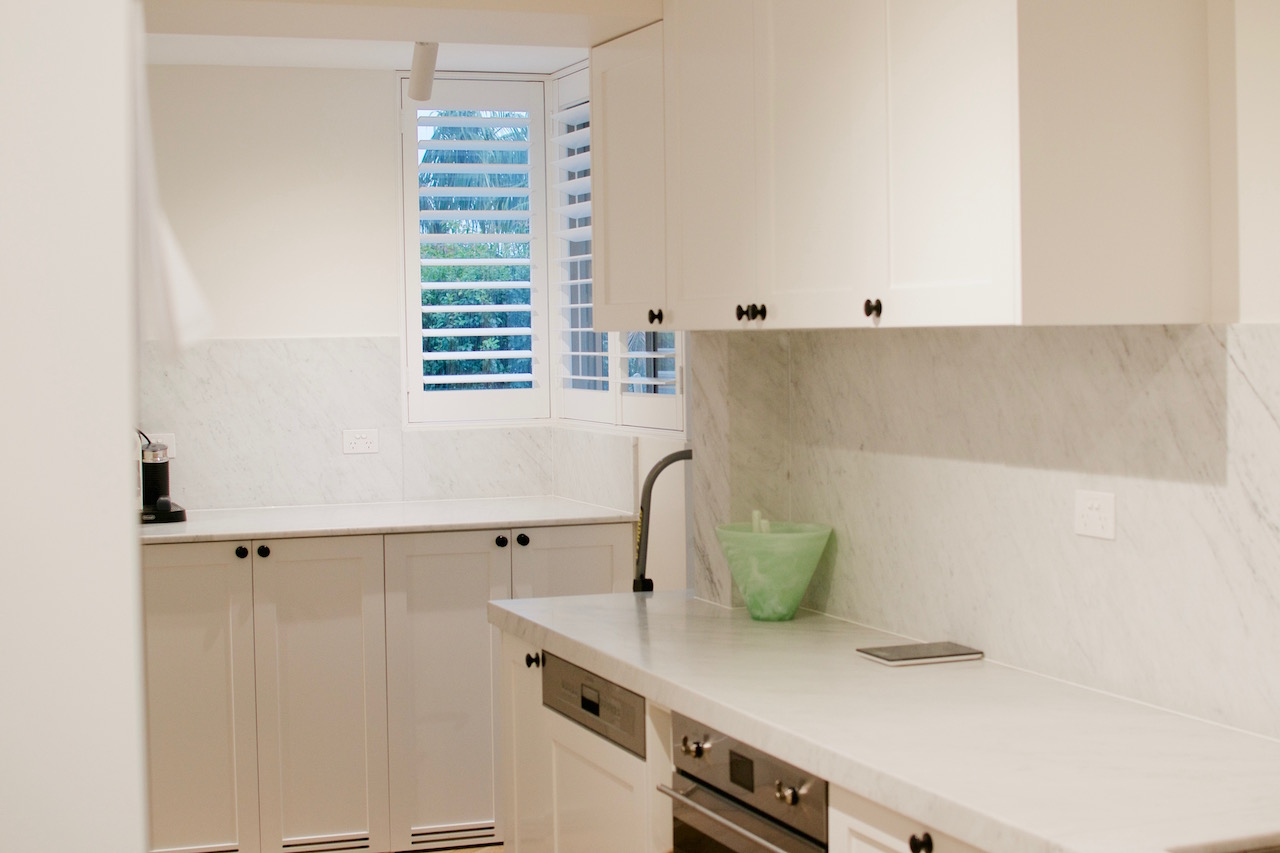 White kitchen benchtop