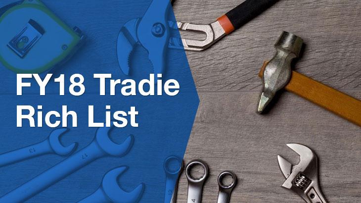 FY18 Tradie Rich List banner