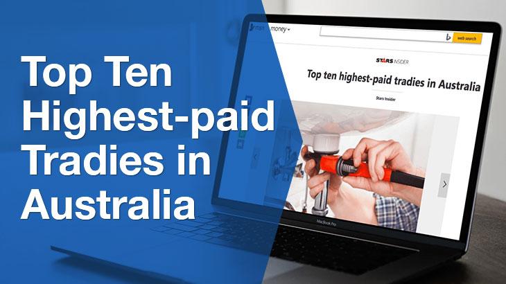 tradies in Australia banner