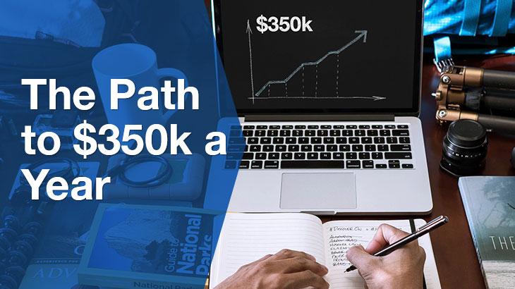 $350k A Year banner