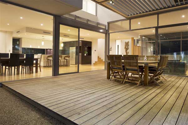 Ironbark deck furnished