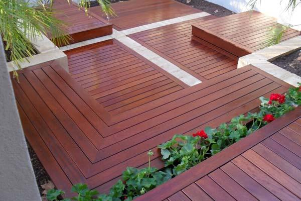 Merbau deck