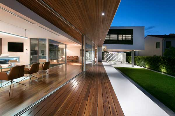 Spotted gum deck