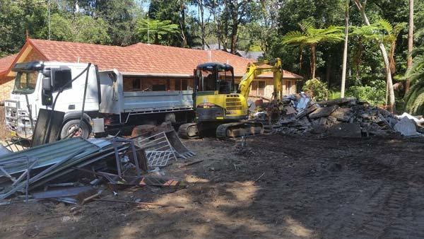 Kitchen under demolition