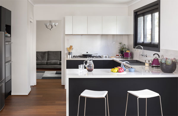 White clean kitchen