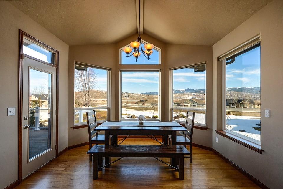 Dining room double glaze windows