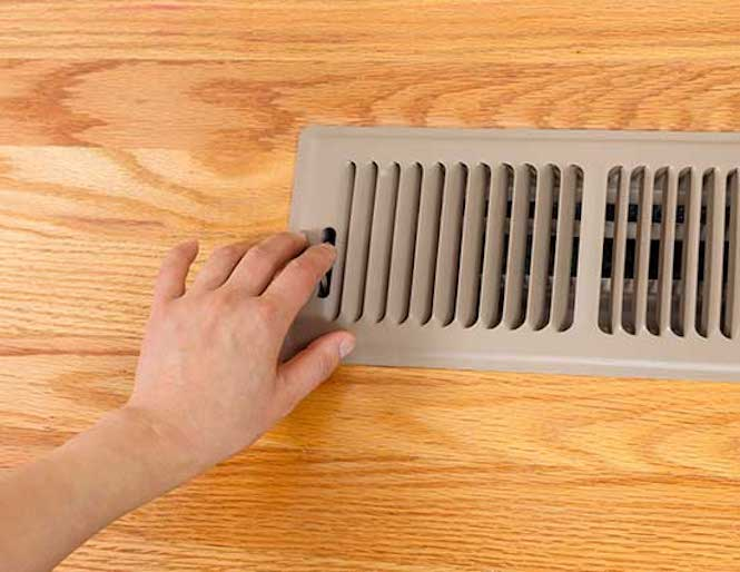 Ducted heating vent